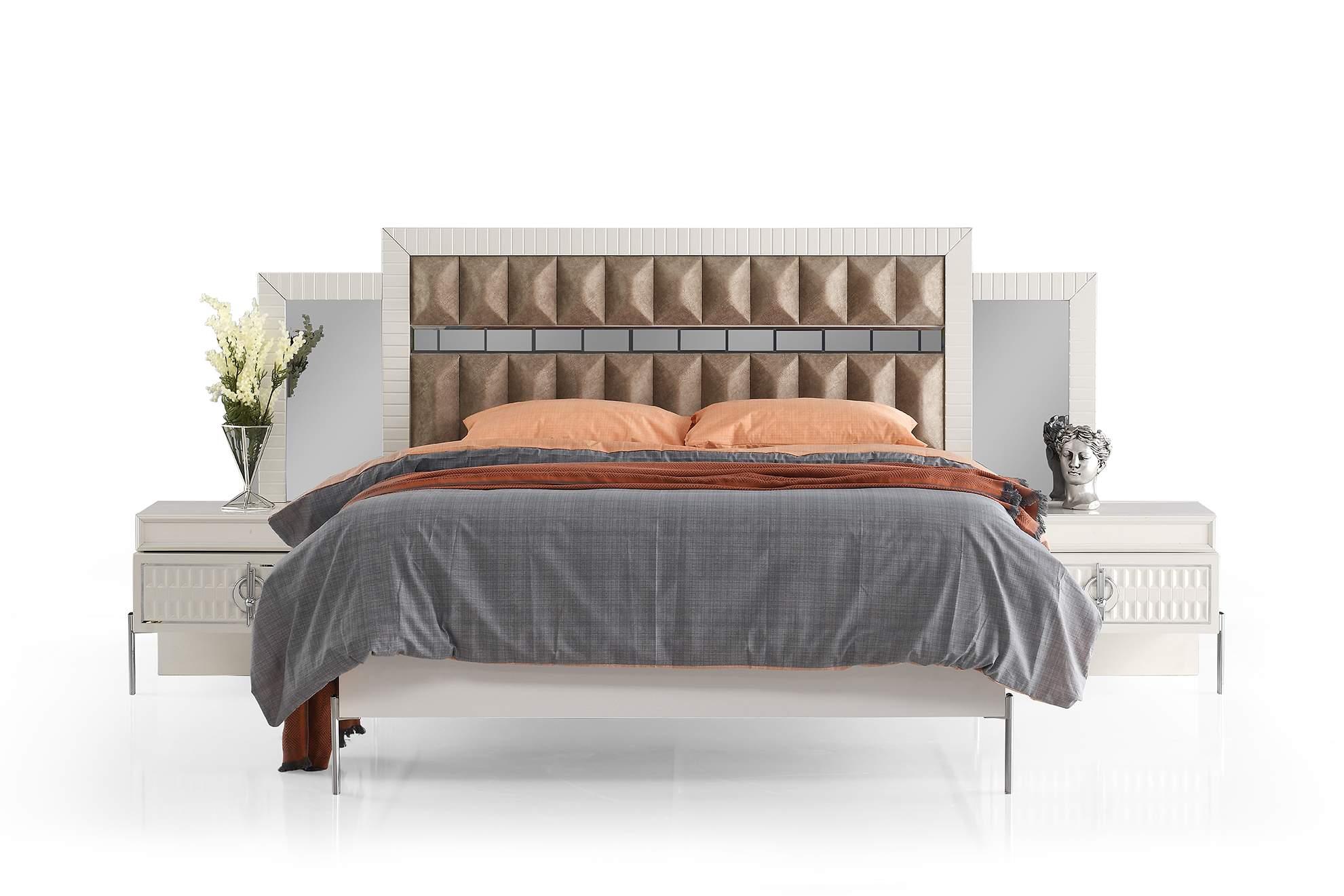 Prada 6 Kapaklı Yatak Odası Krem